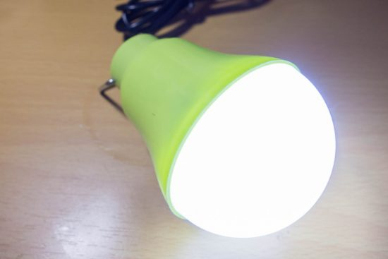 USBライト 点灯